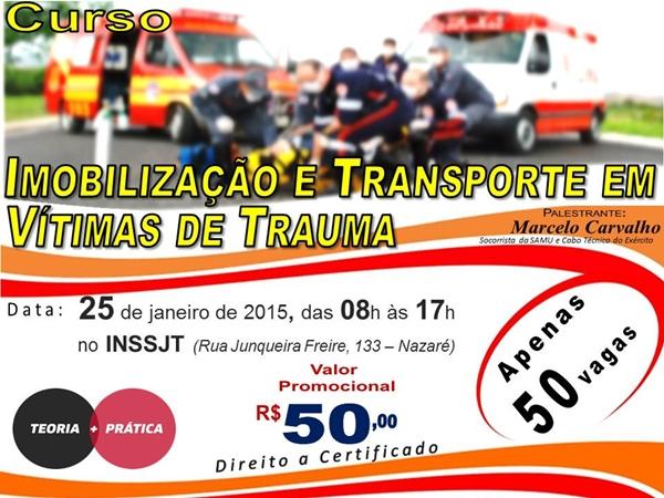 Curso de Imobilização e Transporte em Vitimas de Trauma