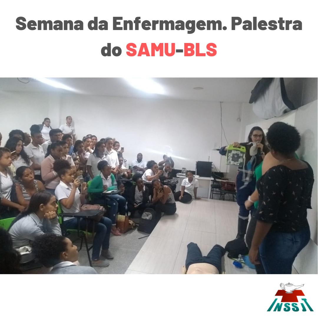 Nesta segunda recebemos a Enf° Adriana Gonçalves Carvalho, Instrutora do Núcleo de Educação Permanente do Samu Solidário para palestrar sobre BLS.
