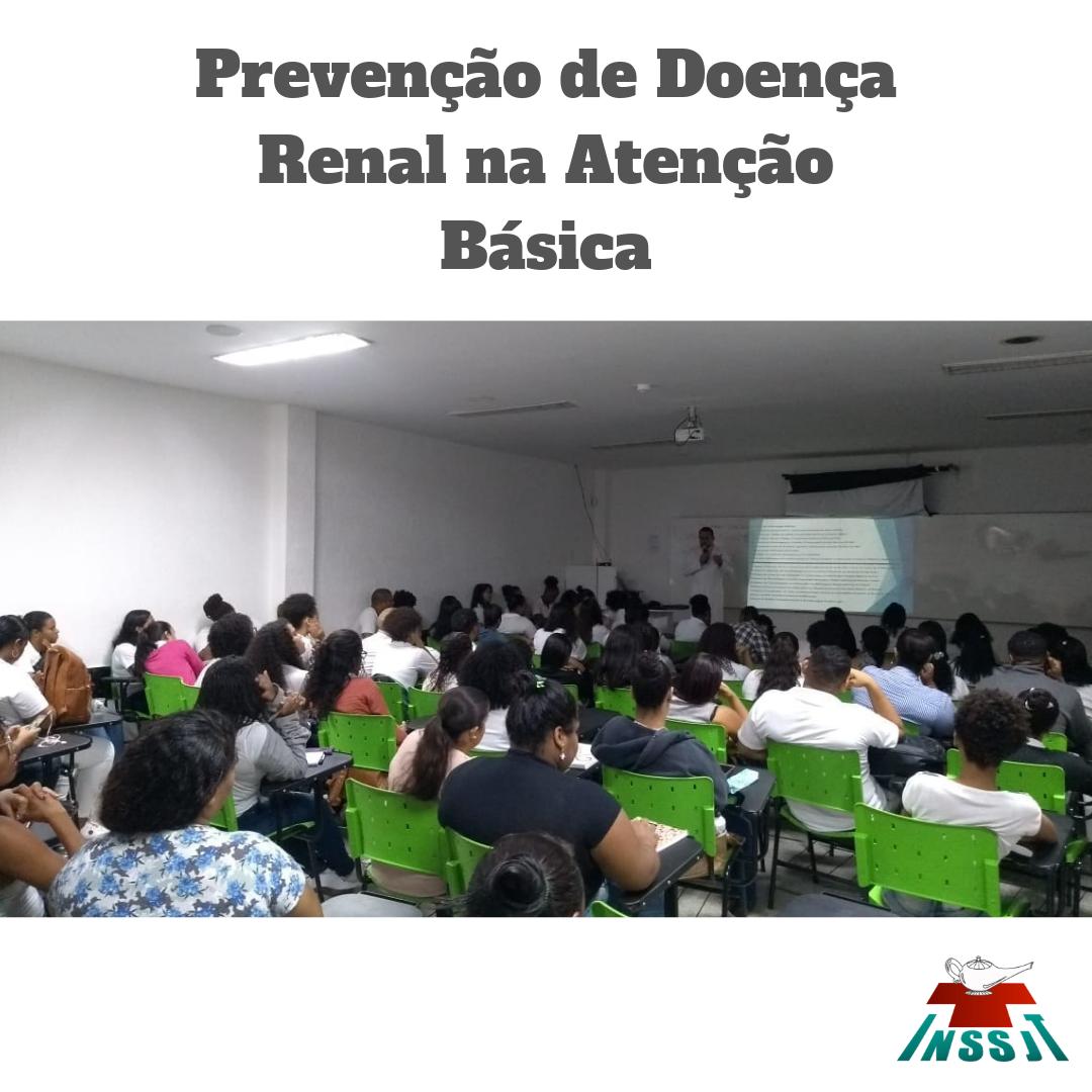 Palestra sobre Prevenção da Doença Renal na Atenção Básica.
