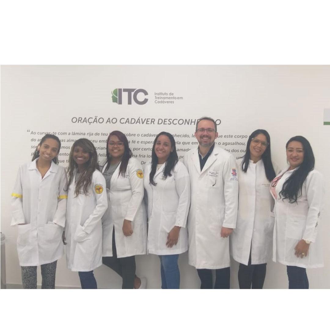 Visita técnica dos alunos do Curso Técnico em Radiologia da FORTES ao Instituto de treinamento em cadáveres (ITC).